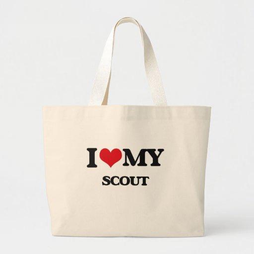Amo a mi explorador bolsa