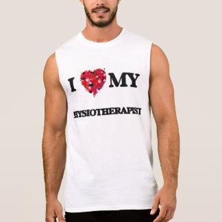 Amo a mi fisioterapeuta camisetas sin mangas
