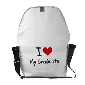 Amo a mi graduado bolsas messenger
