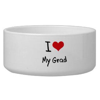 Amo a mi graduado tazon para perro