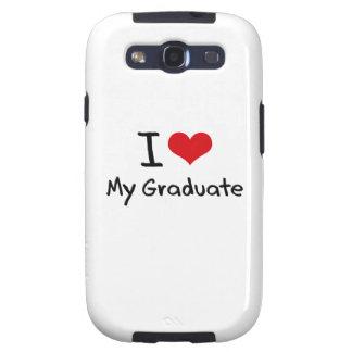 Amo a mi graduado galaxy SIII protectores