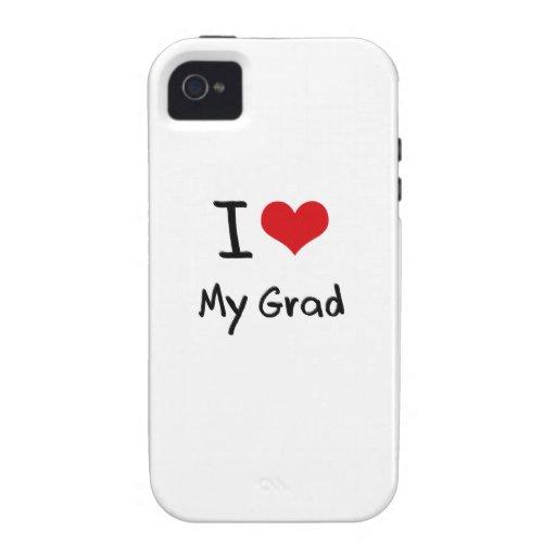 Amo a mi graduado iPhone 4 fundas