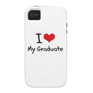 Amo a mi graduado vibe iPhone 4 funda