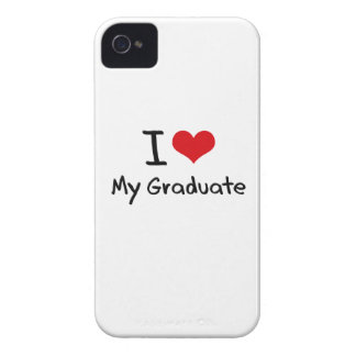 Amo a mi graduado Case-Mate iPhone 4 cárcasas