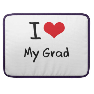 Amo a mi graduado funda para macbooks