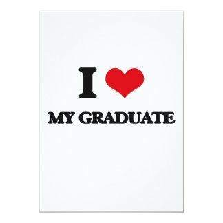 Amo a mi graduado invitación 12,7 x 17,8 cm