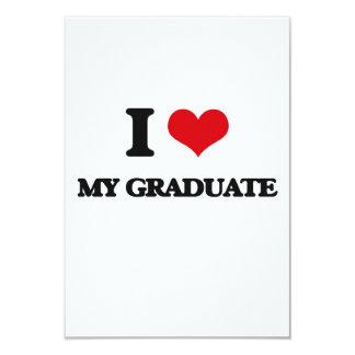 Amo a mi graduado invitación 8,9 x 12,7 cm