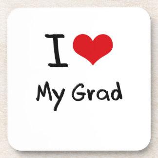Amo a mi graduado posavasos