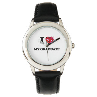 Amo a mi graduado relojes de mano