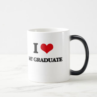 Amo a mi graduado taza mágica
