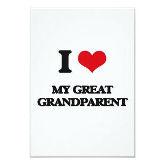 Amo a mi gran abuelo invitación 8,9 x 12,7 cm