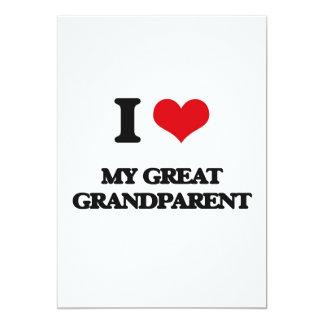 Amo a mi gran abuelo invitación 12,7 x 17,8 cm