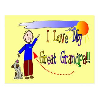 Amo a mi gran abuelo postal