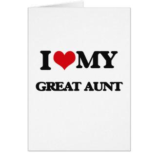 Amo a mi gran tía tarjeta de felicitación