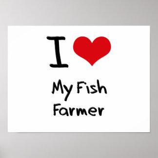Amo a mi granjero de los pescados impresiones