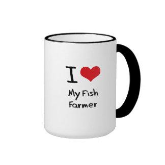 Amo a mi granjero de los pescados taza de café