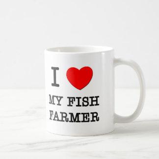 Amo a mi granjero de los pescados taza