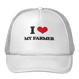 Amo a mi granjero gorras