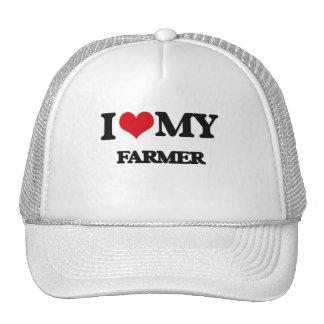 Amo a mi granjero gorros bordados