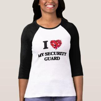 Amo a mi guardia de seguridad camisetas