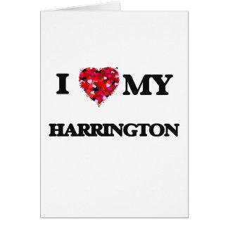 Amo a MI Harrington Tarjeta De Felicitación