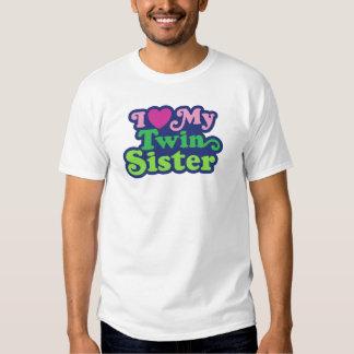 Amo a mi hermana gemela camiseta