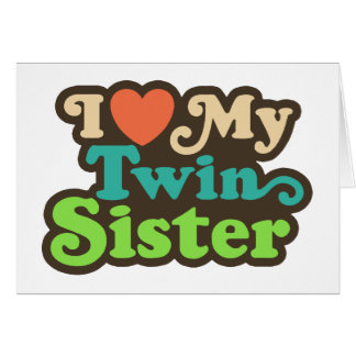 Amo a mi hermana gemela tarjetón