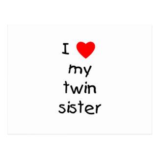 Amo a mi hermana gemela postales