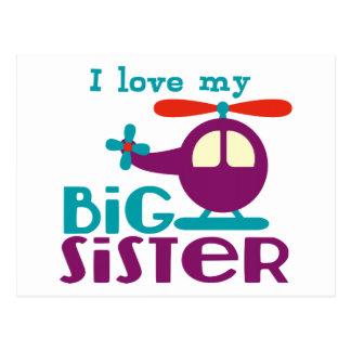 Amo a mi hermana grande postal