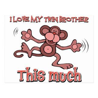 Amo a mi hermano gemelo este mucho postal