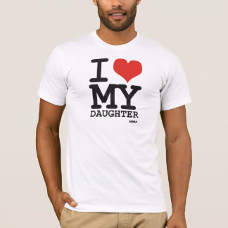 amo a mi hija camiseta