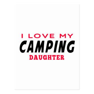 Amo a mi hija que acampa postal