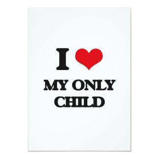 Amo a mi hijo único invitación 12,7 x 17,8 cm