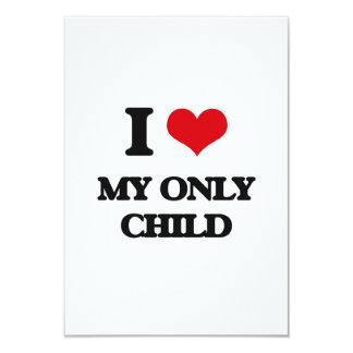 Amo a mi hijo único invitación 8,9 x 12,7 cm