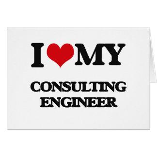 Amo a mi ingeniero asesor tarjeta de felicitación