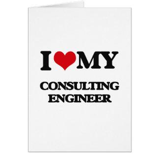 Amo a mi ingeniero asesor felicitación