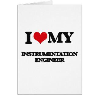 Amo a mi ingeniero de la instrumentación tarjetón