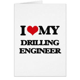 Amo a mi ingeniero de la perforación tarjetón