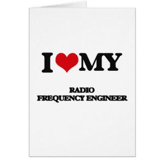 Amo a mi ingeniero de la radiofrecuencia felicitacion