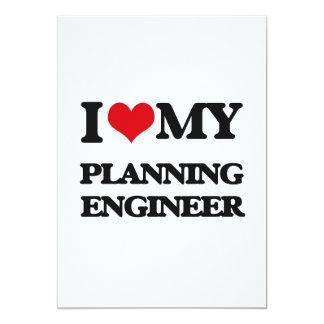 Amo a mi ingeniero de planeamiento invitación 12,7 x 17,8 cm