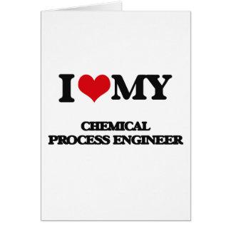 Amo a mi ingeniero de proceso químico felicitacion
