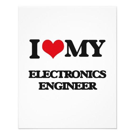 Amo a mi ingeniero electrónico flyer personalizado