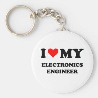 Amo a mi ingeniero electrónico llavero redondo tipo chapa