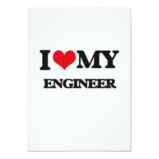 Amo a mi ingeniero invitación 12,7 x 17,8 cm