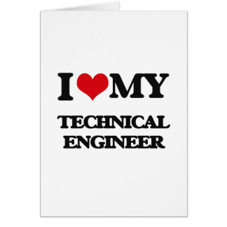 Amo a mi ingeniero técnico tarjetas