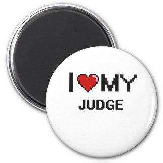 Amo a mi juez imán redondo 5 cm