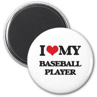 Amo a mi jugador de béisbol iman de frigorífico
