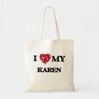 Amo a mi Karen Bolsa Tela Barata