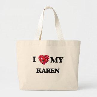 Amo a mi Karen Bolsa Tela Grande