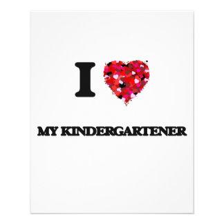 Amo a mi Kindergartener Folleto 11,4 X 14,2 Cm
